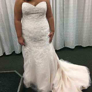 Reduced to sell!! 💥💥Blush Wedding Dress - Size 20