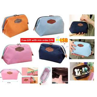 [Min Order $70 FREE GIFT] Pretty Double Zippers Korean Style Pouch