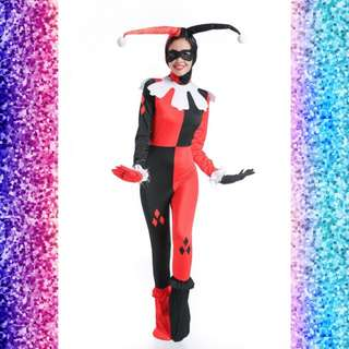 Harley Quinn Jester Jumpsuit Costume