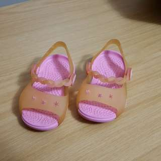 Slightly used Size 4 Crocs for girls