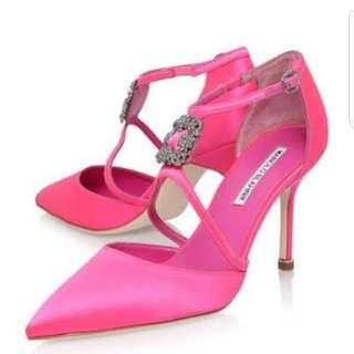 Designer pink shoes
