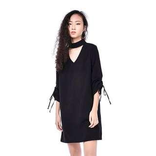 (CLEARANCE) BNIB TEM Haydee Choker-Strap Dress In Black