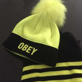 OBEY Neon Hat & Scarf
