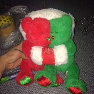 Christmas couple bear
