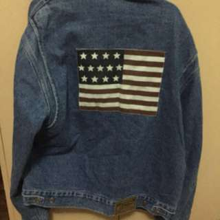 Ralph Lauren Vintage Denim Jacket (I'm 5'7 and 135 pounds, It fits really oversized on me)
