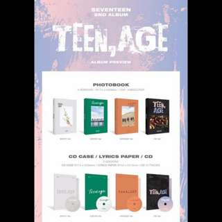 Seventeen Vol. 2 Album - TEEN, AGE (Tingi) ON-HAND