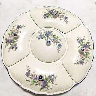 Beautiful Vintage Serving Platter Plate-New