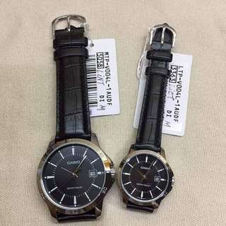Authentic Casio Couple Watch LEATHER STRAP
