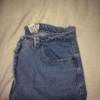 Frayed vintage jeans