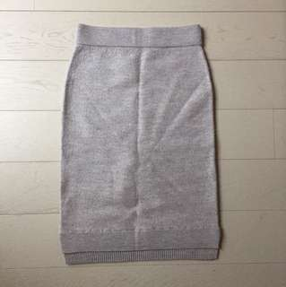 Club Monaco XS Grey Wool Skirt
