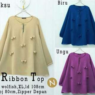 Blouse Wanita Muslim 56205/ribbon top/baju tunik murah/atasan muslim wanita murah