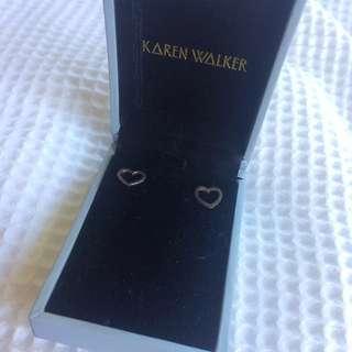 Authentic Karen Walker Heart Earings