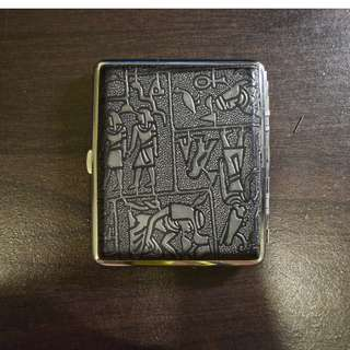 Stainless Steel Cigarette Case with Free Lotus Ashtray