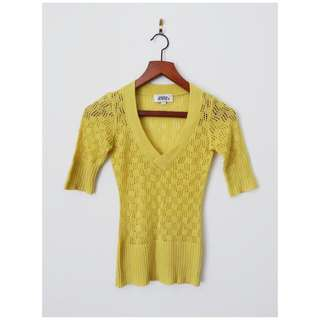 Costa Blanca Yellow Knit Top