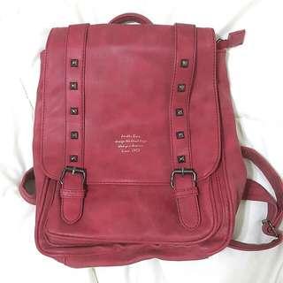 紅色復古後背包 包包