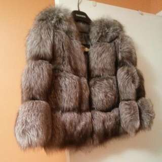 Real Fox Fur Coat. Size M