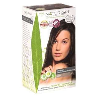 SAVE OVER 23%! NATURIGIN (2.3 EBONY) 100% PERMANENT ORGANIC HAIR COLOR