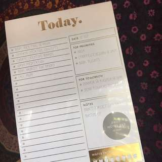Kikki. K Today To-do Notepad