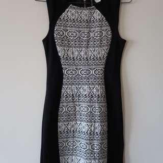 Geometric Hourglass Bodycon Dress