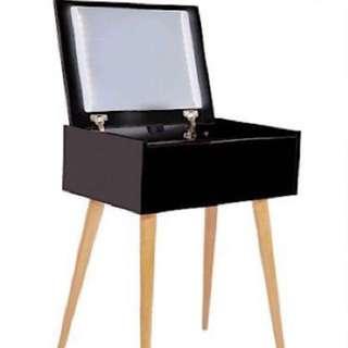 NEW IN BOX - LIGHT UP VANITY DRESSER - BLACK