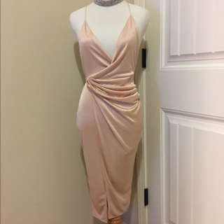 Oh Polly Pink Satin Dress BNWT