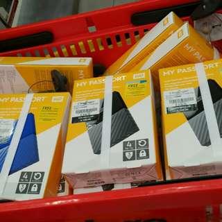 "WD 4 tb 4TB my passport external hard drive hdd 2 5"" hard disk Portable and Light"