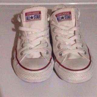 Women's White All-Star converse