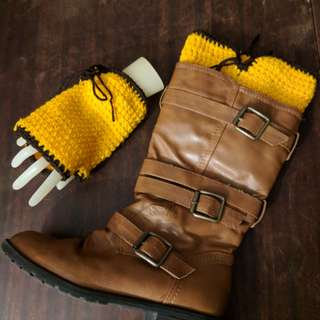 Gift set crochet wrist warmers boot cuffs