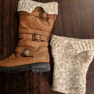 Leg warmers boot cuffs