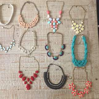 Necklaces $10 each
