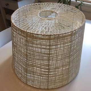 Woven white pendant light - immaculate condition