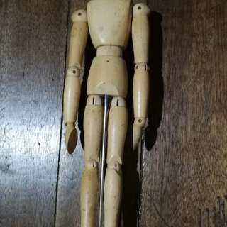 wooden doll mannequin japan vintage style