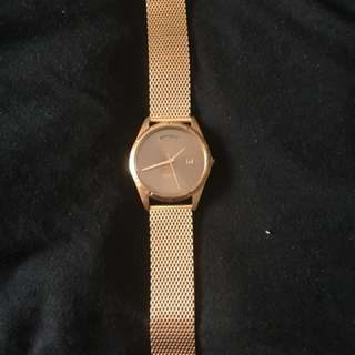 Mimco timepeace  ladies watch rose gold
