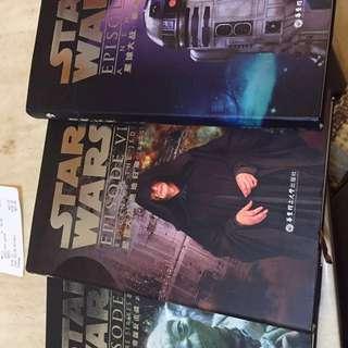 Star Wars episode 4-6 書 return of the Jedi empire strikes back a new hope 英文原版 大陸出版社 共三本