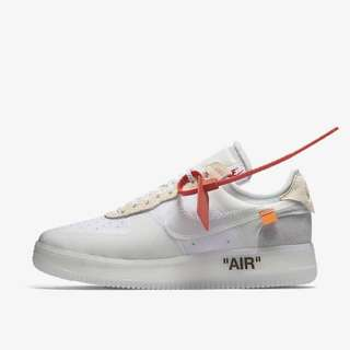 Nike The Ten Off White Air Force 1 size 10.5