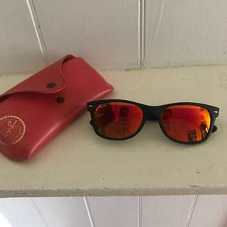 Ray-Ban orange/red wayfarer sunglasses
