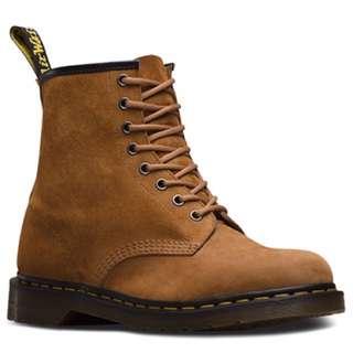 Dr. Martens 1460 Soft Buck Boots - Brown - UK 11