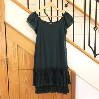 Moss green vintage look dress sz8