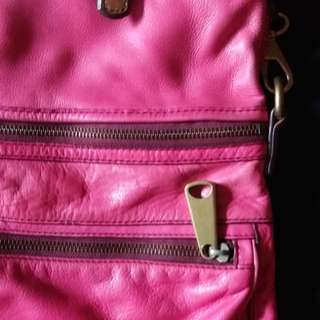 Fossils bag pure leather