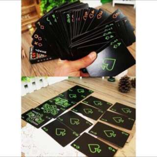 Luminous black edition playing cards
