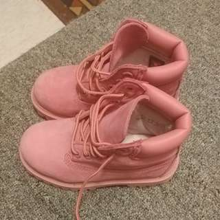 Girls Pink Timberlands