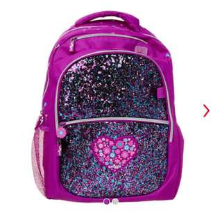 Smiggle sparkle backpack