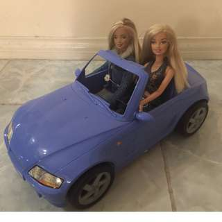 Toy car for Barbie with free Barbie accessories