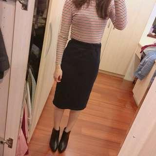 🚚 韓製顯瘦黑色半身裙