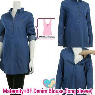 Maternity+BF Denim Blouse (long sleeve)