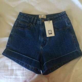 Insight denim high waisted shorts