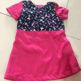 Homemade girl dress 6-12m