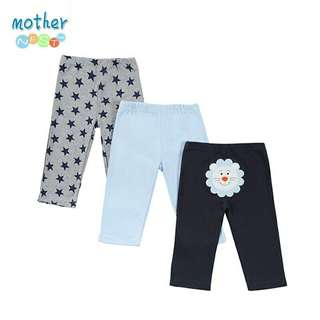 Mother Nest Baby long pants for Boys 3 pcs