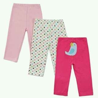 Mother Nest Baby Long Pants for Girls 3 pcs