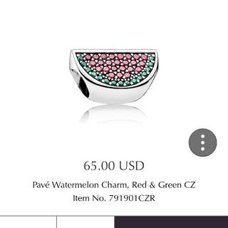 Pandora Watermelon pave charms